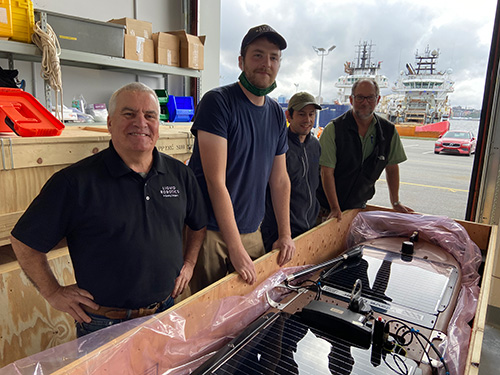 Darrin Verge with Ocean Tracking Network Team